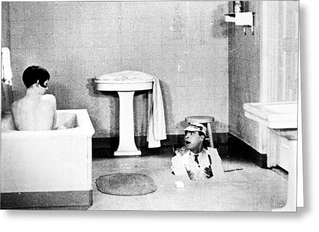 Surprise Greeting Cards - Silent Still: Bathing Greeting Card by Granger