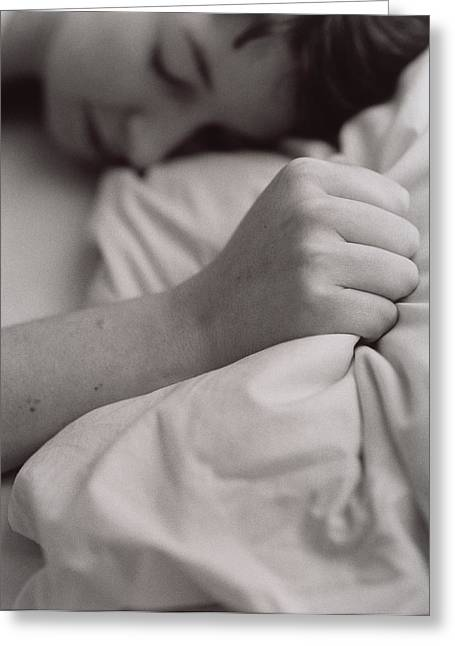 Clenched Fist Greeting Cards - Sleeping Woman Greeting Card by Cristina Pedrazzini