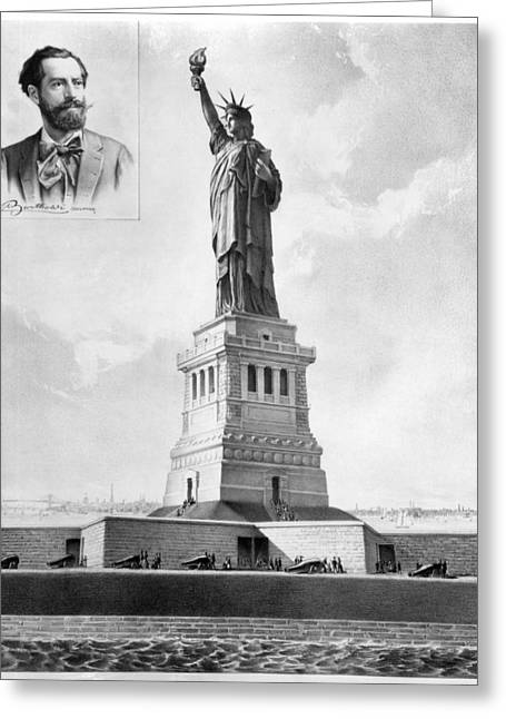 Bartholdi Greeting Cards - Statue Of Liberty, 1886 Greeting Card by Granger