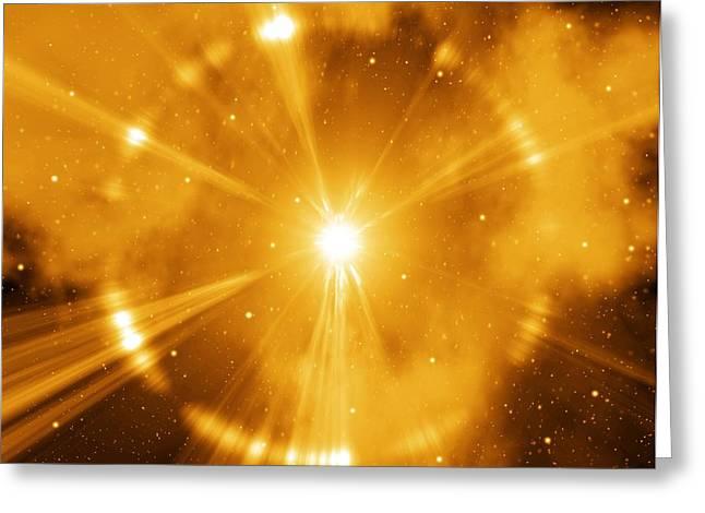 Grb Greeting Cards - Supernova Explosion, Artwork Greeting Card by Mehau Kulyk
