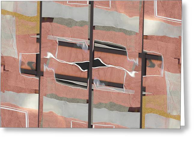 Urban Abstract San Diego Greeting Card by Carol Leigh
