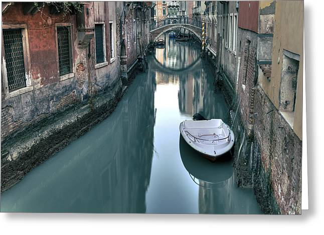 Alley Stairs Greeting Cards - Venezia Greeting Card by Joana Kruse
