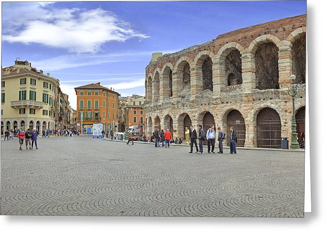Arena Photographs Greeting Cards - Verona Greeting Card by Joana Kruse
