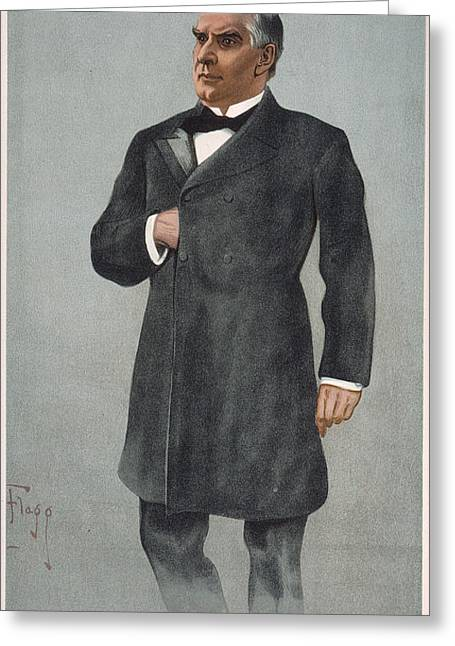 Flagg Greeting Cards - WILLIAM McKINLEY (1843-1901): Greeting Card by Granger