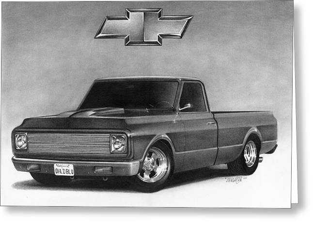 Graphite Greeting Cards - 70 Pickup Greeting Card by Tim Dangaran