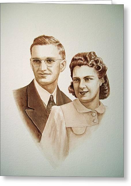 Photo Gifts Greeting Cards - 70 Years Together Greeting Card by Irina Sztukowski