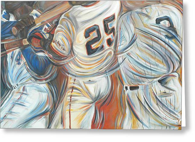 Hank Aaron Greeting Cards - 700 Homerun Club Greeting Card by Redlime Art