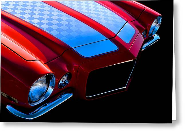 Checkerboard Greeting Cards - 71 Camaro Greeting Card by Douglas Pittman