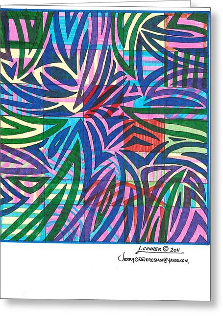 Abstract Seascape Drawings Greeting Cards - Untitled Greeting Card by Jerry Conner