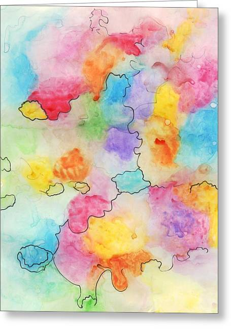 Suzanne Marie Leclair Paintings Greeting Cards - Untitled Greeting Card by Suzanne  Marie Leclair