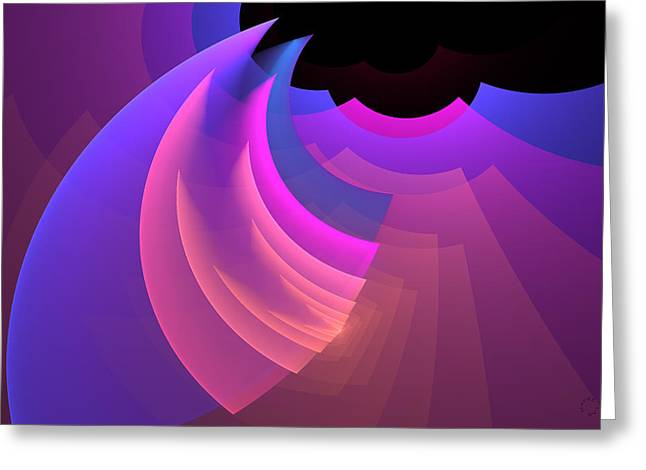 Generative Abstract Greeting Cards - 730 Greeting Card by Lar Matre