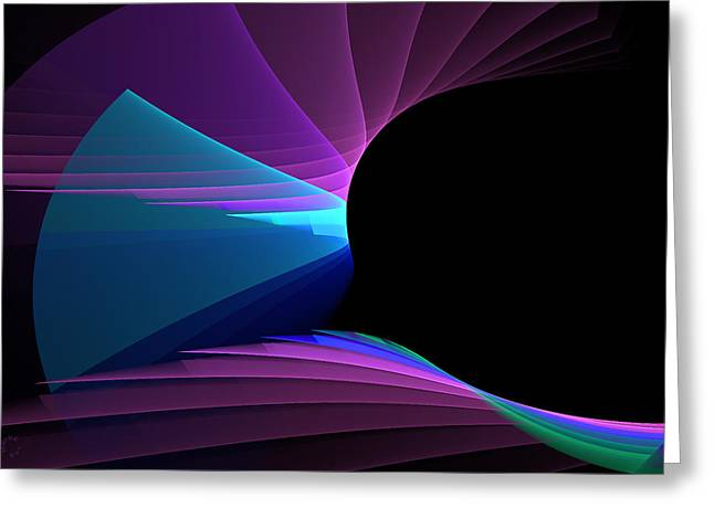 Generative Abstract Greeting Cards - 739 Greeting Card by Lar Matre