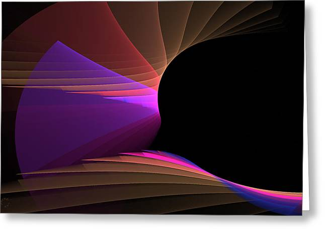 Generative Abstract Greeting Cards - 740 Greeting Card by Lar Matre