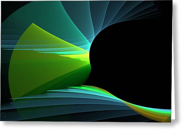 Generative Abstract Greeting Cards - 741 Greeting Card by Lar Matre