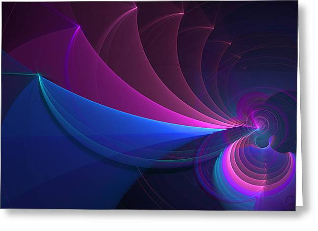 Generative Abstract Greeting Cards - 744 Greeting Card by Lar Matre
