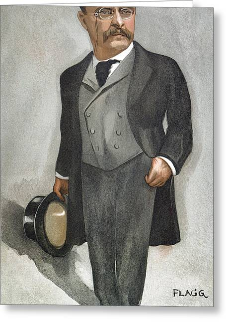 Flagg Greeting Cards - Theodore Roosevelt Greeting Card by Granger