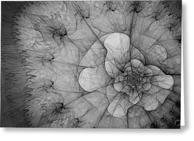 Generative Abstract Greeting Cards - 771 Greeting Card by Lar Matre