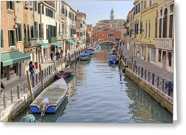 Rio Greeting Cards - Venezia Greeting Card by Joana Kruse