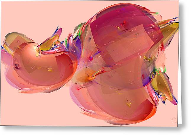 Generative Abstract Greeting Cards - 793 Greeting Card by Lar Matre