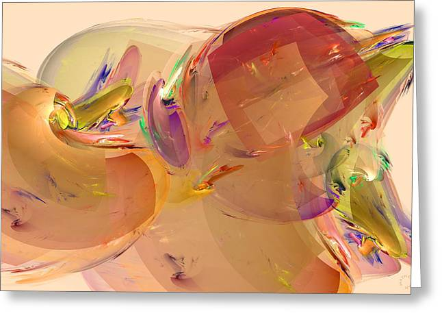 Generative Abstract Greeting Cards - 794 Greeting Card by Lar Matre