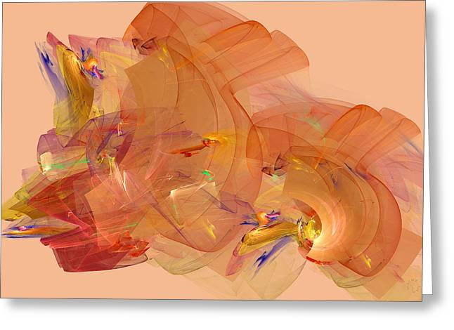 Generative Abstract Greeting Cards - 795 Greeting Card by Lar Matre