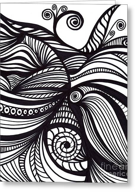Abstract Drawings Greeting Cards - Abstract Greeting Card by HD Connelly