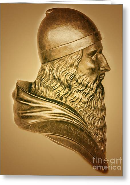 Aristotle, Ancient Greek Philosopher Greeting Card by Science Source