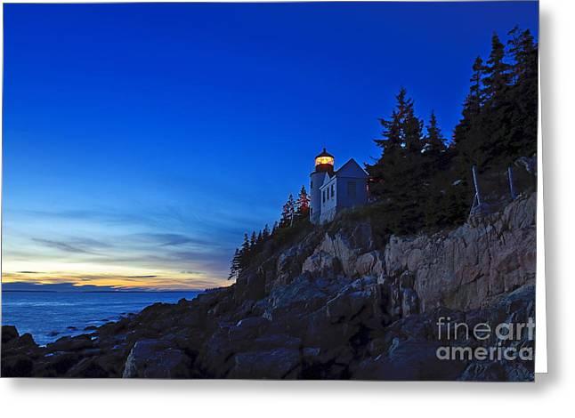 Bass Harbor Lighthouse Greeting Cards - Bass Harbor Lighthouse Greeting Card by John Greim