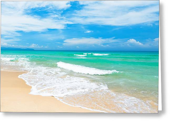 Holiday Greeting Cards - Beach Greeting Card by MotHaiBaPhoto Prints
