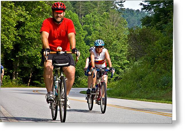 Double Bicycle Greeting Cards - Bicycle Ride Across Georgia Greeting Card by Susan Leggett