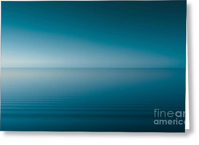 Sweating Digital Art Greeting Cards - Blue lake Greeting Card by Odon Czintos