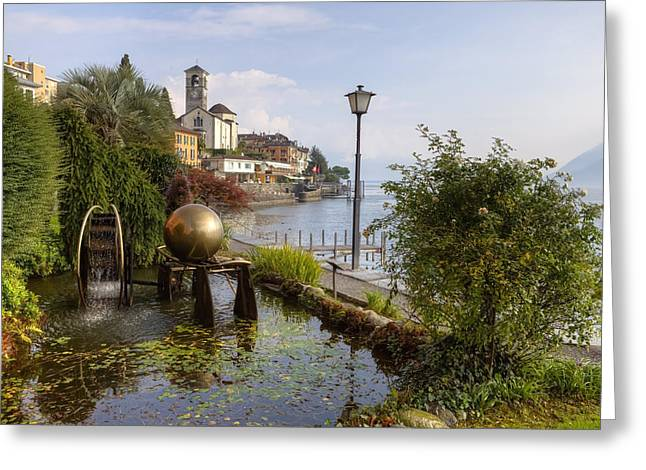 Art Sculptures Greeting Cards - Brissago - Ticino Greeting Card by Joana Kruse