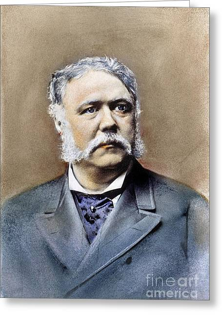 Sideburns Greeting Cards - Chester Alan Arthur Greeting Card by Granger