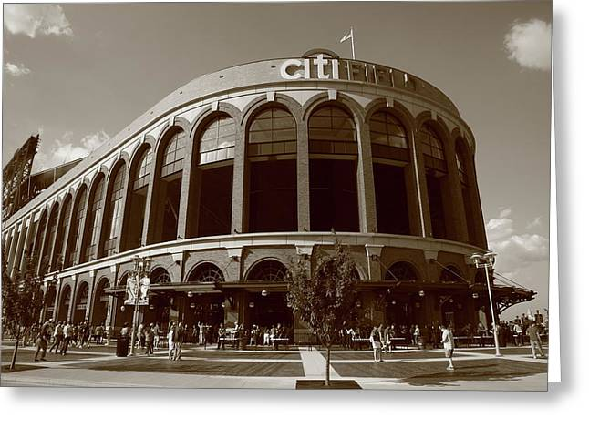 Citi Greeting Cards - Citi Field - New York Mets Greeting Card by Frank Romeo