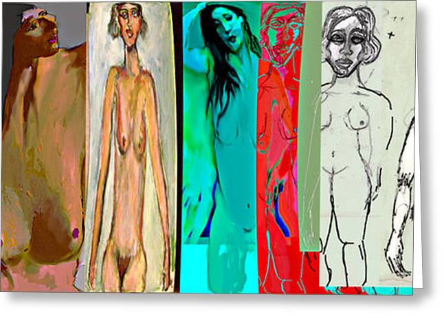 Female Body Greeting Cards - 8 faces of Eve Greeting Card by Noredin Morgan