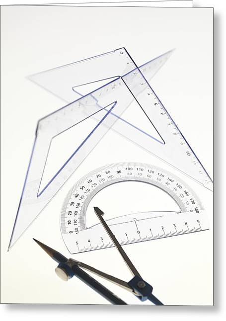 Technical Photographs Greeting Cards - Geometry Set Greeting Card by Tek Image