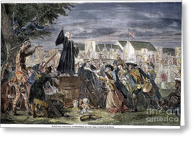 Preach Greeting Cards - George Whitefield Greeting Card by Granger
