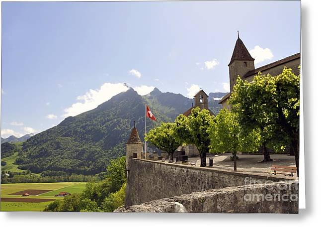 Gruyere Greeting Cards - Gruyeres Greeting Card by LS Photography