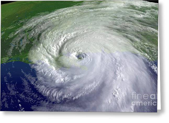 21st Greeting Cards - Hurricane Katrina Greeting Card by Science Source