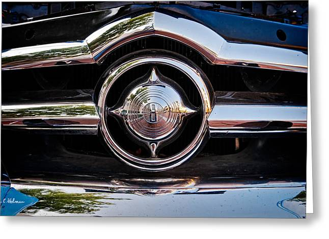 Ford Custom Greeting Cards - 8 in Chrome Greeting Card by Christopher Holmes