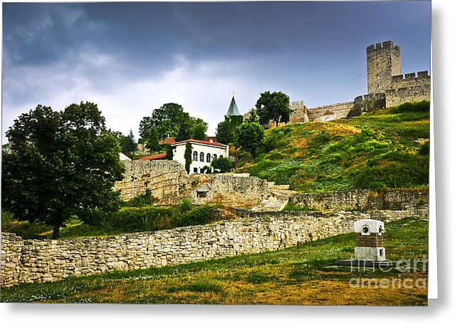 Fortification Greeting Cards - Kalemegdan fortress in Belgrade Greeting Card by Elena Elisseeva