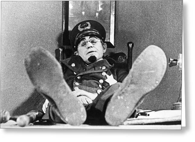 Funny Shoe Greeting Cards - Keystone Kops Greeting Card by Granger