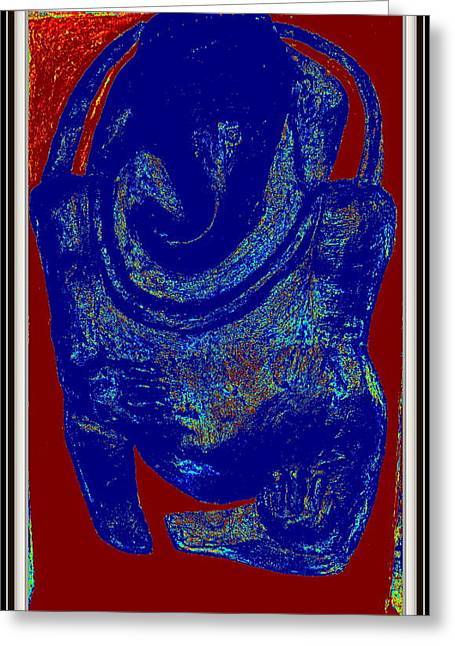 Row Sculptures Greeting Cards - Lord Ganesha Greeting Card by Anand Swaroop Manchiraju