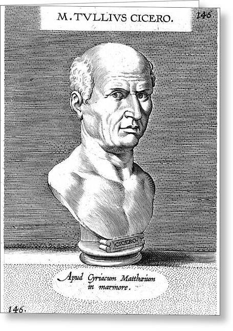 Statue Portrait Greeting Cards - Marcus Tullius Cicero Greeting Card by Granger