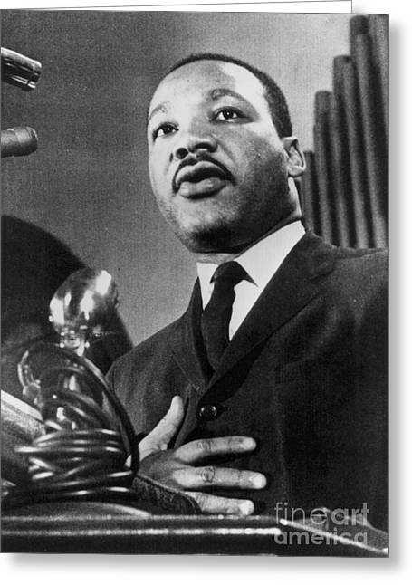 Jim Crow South Greeting Cards - Martin Luther King, Jr Greeting Card by Granger