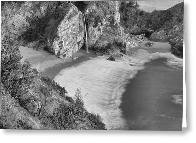 Big Sur Beach Greeting Cards - McWay Falls - Big Sur Greeting Card by Stephen  Vecchiotti