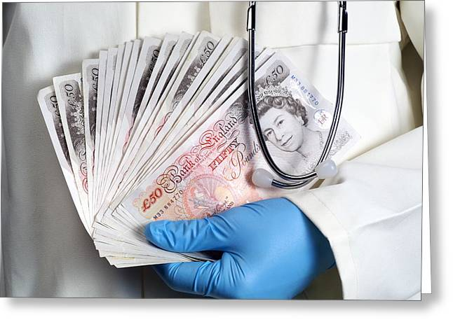Medical Money Greeting Card by Paul Rapson