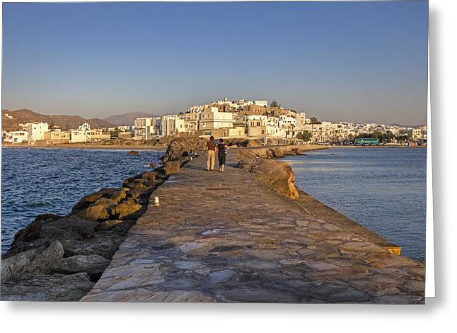Castro Greeting Cards - Naxos - Cyclades - Greece Greeting Card by Joana Kruse