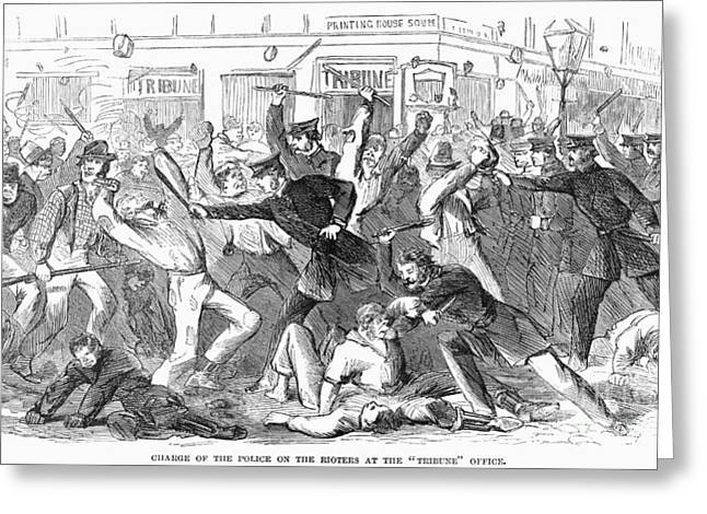 New York: Draft Riots Greeting Card by Granger