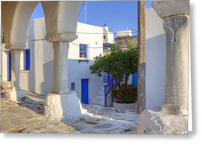 Agios Greeting Cards - Paros - Cyclades - Greece Greeting Card by Joana Kruse